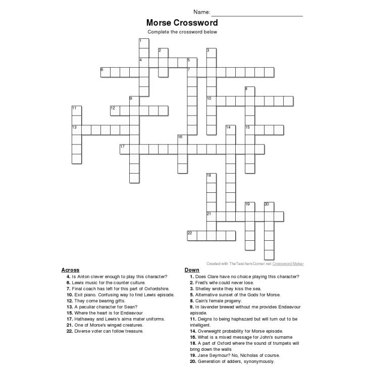 Morse Crossword